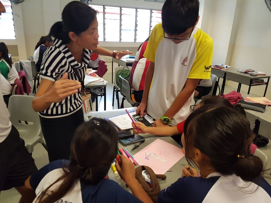 Mrs Loke giving some pointers to the group a Learning Experience activity.jpg